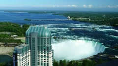 Niagara Falls on the border between Canada and the USA Stock Footage