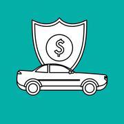 Insurance design. Safety icon. Isolated illustration - stock illustration
