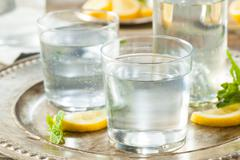 Refreshing Clear Sparkling Water - stock photo