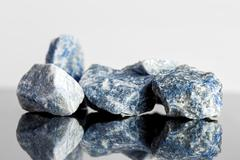 Blue sodalite, uncut, alternative medicine - stock photo