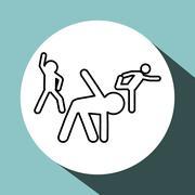 stretching design. sport icon. Isolated image - stock illustration