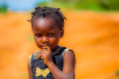African baby girl Stock Photos