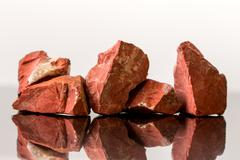 Red Jasper, uncut, crystal Healing Stock Photos