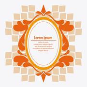 Frame design. Ornament icon. Flat illustration , vector graphic - stock illustration