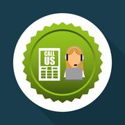 Call center design. customer service icon. Isolated illustration , vector - stock illustration