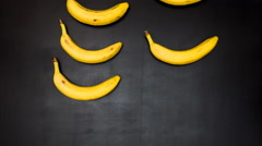 Banana, stop motion animation - stock footage