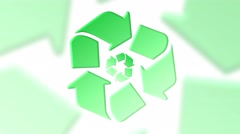Recycling background, rotating recycle symbols loop Arkistovideo