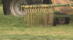Hay harvest in germany Stock Footage