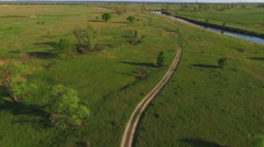the Territory of Ukraine Dniester River. - stock footage