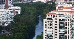 Marapendi Lake, Barra da Tijuca, Rio de Janeiro. Brazilian newly borough. - stock footage