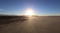 Mojave Desert Dry Lake Bed Car Mount Drivng Time Lapse Stock Footage