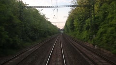 Railway track motion Stock Footage