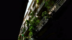 Low angle shot of buildings in the Gothic quarter of Barcelona Stock Footage