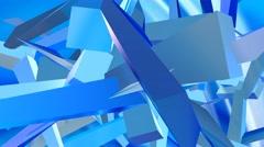 random shards of animated glass shapes - stock footage