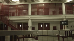 Exterior of Jail Corridor Stock Footage