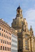Frauenkirche and Neumarkt, Dresden, Germany - stock photo