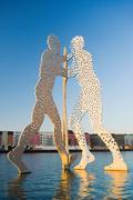 Molecule Man sculpture, Berlin, Germany - stock photo