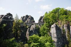 Bastei Rocks, Saxon Switzerland, Dresden, Germany - stock photo
