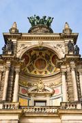 Ornate detail of Semperoper, Zwinger, Dresden, Germany - stock photo