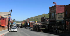 Park City Utah Main Street historic district DCI 4K Stock Footage