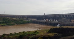 The large dam of Itaipu in Brazil Stock Footage