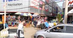 Streets in Cuidad del Este in Paraguay Stock Footage