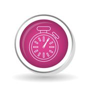 Chronometer icon  design, vector illustration Stock Illustration