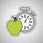 chronometer icon  design, vector illustration - stock illustration