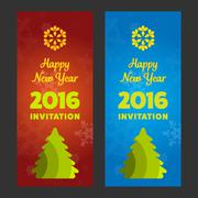 New year invitation 2016 Piirros