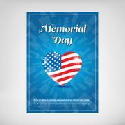 Memorial day poster - stock illustration