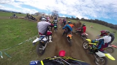 Motocross racing helmet cam 7 HD Stock Footage
