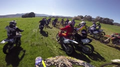 Motocross racing action cam HD 8 Stock Footage