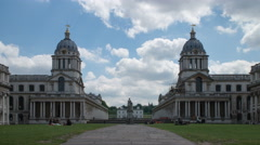Greenwich Campus timelapse, London Stock Footage