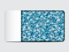 Vector gift card with blue sequins background. - stock illustration
