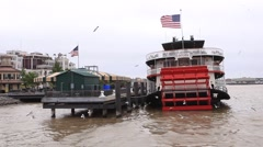 Historic steamboat Natchez in New Orleans Stock Footage