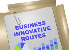Business Innovative Routes business concept - stock illustration
