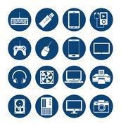 Device design. Gadget icon. White background - stock illustration