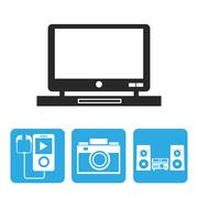 Device design. Gadget icon. White background Stock Illustration