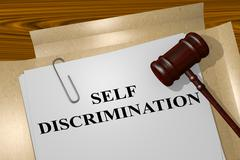 Self Discrimination legal concept Stock Illustration