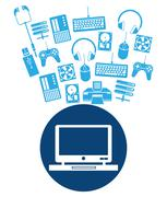 Device design. Gadget icon. White background - stock illustration