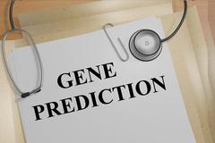 Gene Prediction medical research concept Stock Illustration