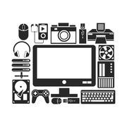 Device design. Gadget icon. White background Stock Illustration