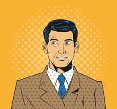 People design. Pop art icon. Retro and Colorfull illustration - stock illustration