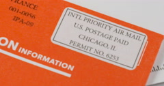International Mail Envelope Stock Footage