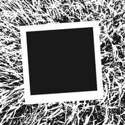 Vector frame for photo. - stock illustration