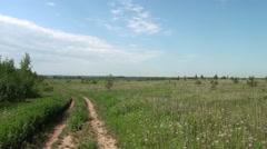 road in field - stock footage