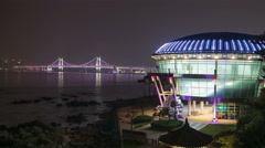 Nurimaru APEC House, Night View 4K Timelapse, Busan in South Korea - stock footage