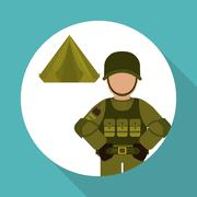 Military tent design , vector illustration Stock Illustration