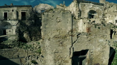 The city of Craco, Italy. Deserted ghost town. Aerial video N. Stock Footage