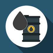 Oil barrel design , vector illustration - stock illustration
